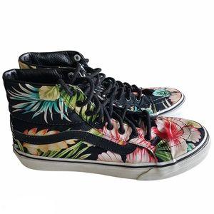 Vans Floral Sk8 Shoes Hi Top Unisex M 6 and W 7.5